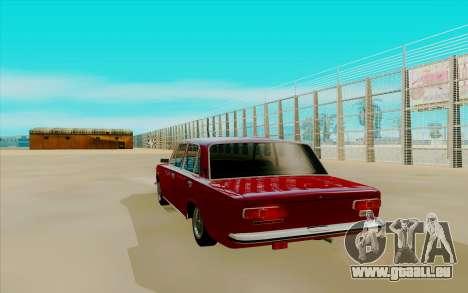 VAZ 2101 für GTA San Andreas zurück linke Ansicht
