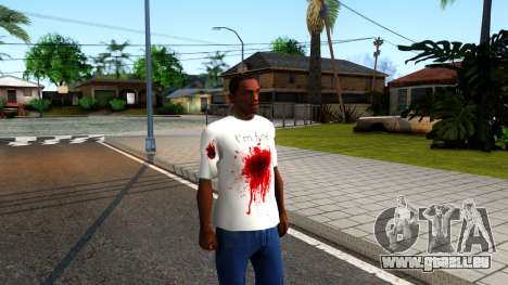 White I am Fine T-Shirt für GTA San Andreas zweiten Screenshot