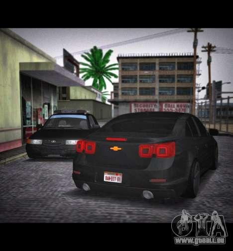 Chevrolet Malibu pour GTA San Andreas laissé vue