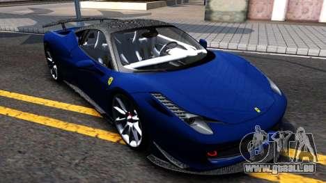 Ferrari 458 Italia Tune für GTA San Andreas