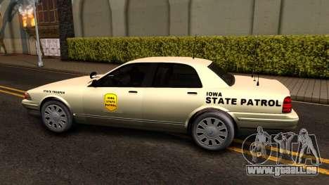 Brute Stanier Slicktop 2009 Iowa State Patrol pour GTA San Andreas laissé vue
