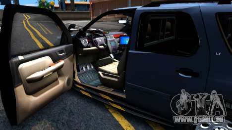 Chevy Tahoe Metro Police Unmarked 2012 pour GTA San Andreas vue arrière