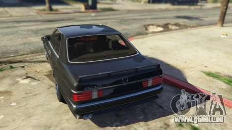 GTA 5 Mercedez-Benz 560 SEC hinten links Seitenansicht