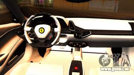 Ferrari 458 Italia Tune für GTA San Andreas Innenansicht