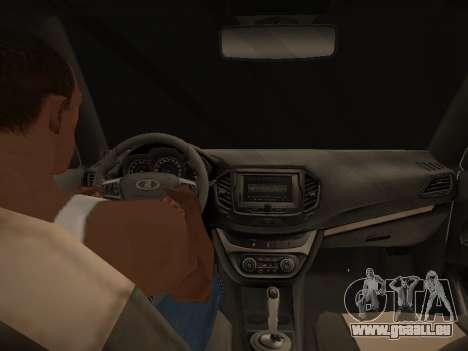 LADA Vesta BPAN für GTA San Andreas obere Ansicht