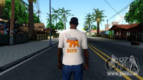 White Beer T-Shirt pour GTA San Andreas troisième écran
