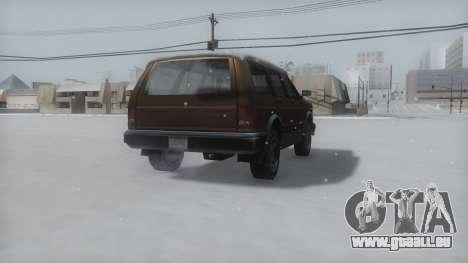 Landstalker Winter IVF pour GTA San Andreas sur la vue arrière gauche