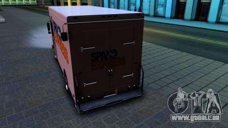 GTA IV Brute Boxville with SpandEx livery für GTA San Andreas rechten Ansicht