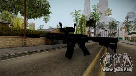 HK416 v4 pour GTA San Andreas troisième écran
