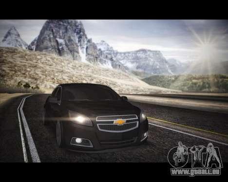 Chevrolet Malibu pour GTA San Andreas vue de droite