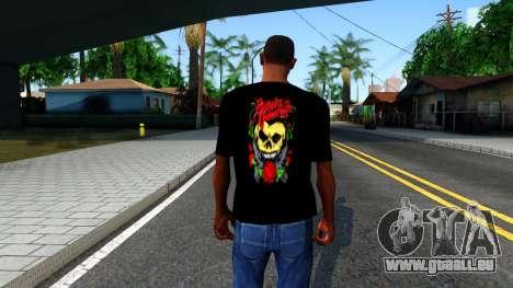 Bullet For My Valentine T-shirt für GTA San Andreas dritten Screenshot