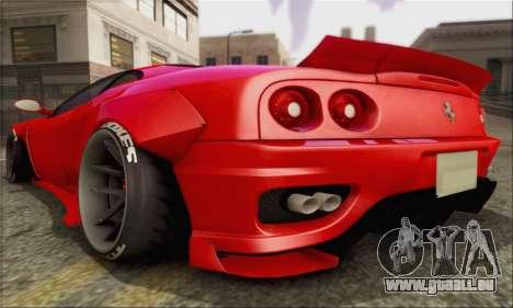 Ferrari 360 LB Work für GTA San Andreas rechten Ansicht