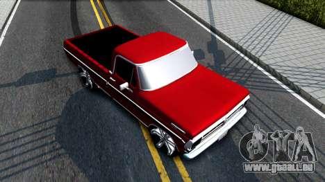 Ford F100 1975 für GTA San Andreas Rückansicht