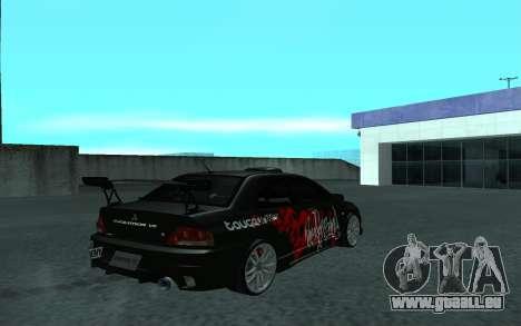 Mitsubishi Lancer Evolution VII pour GTA San Andreas vue intérieure