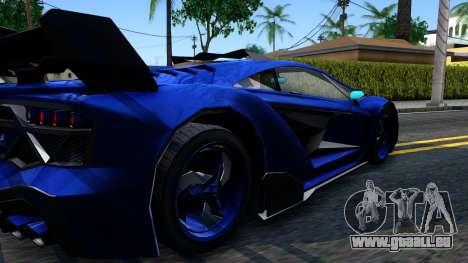 GTA V Pegassi Lampo pour GTA San Andreas vue arrière