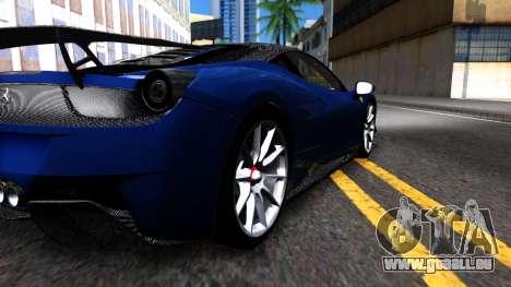 Ferrari 458 Italia Tune für GTA San Andreas Rückansicht