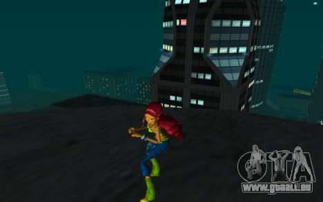 Aisha Rock Outfit from Winx Club Rockstars für GTA San Andreas zweiten Screenshot