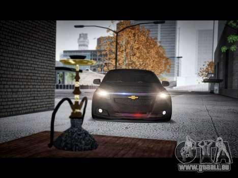 Chevrolet Malibu pour GTA San Andreas sur la vue arrière gauche