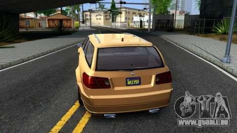 GTA V Benefactor Schafter Wagon für GTA San Andreas zurück linke Ansicht