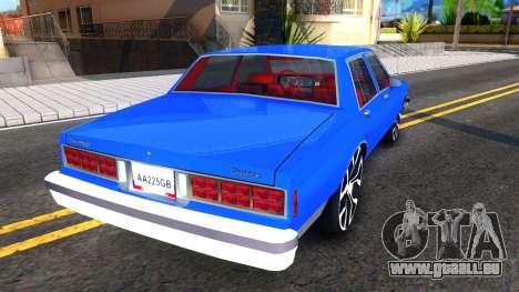 Chevrolet Caprice 1987 Tuning für GTA San Andreas rechten Ansicht