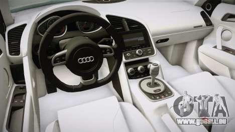 Audi R8 Coupe 4.2 FSI quattro US-Spec v1.0.0 v4 für GTA San Andreas Innenansicht