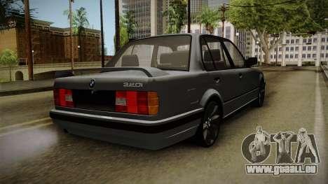 BMW M3 E30 Edit v1.0 pour GTA San Andreas sur la vue arrière gauche