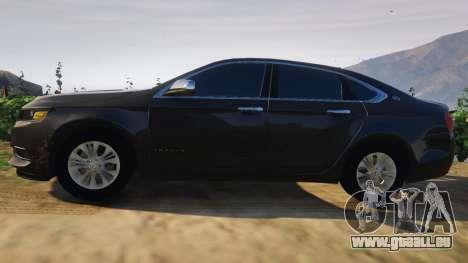 GTA 5 Chevrolet Impala 2015 vue latérale gauche