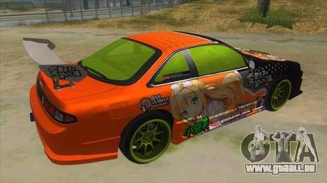 Azuki Azusa Itasha Nissan Silvia Vinyl pour GTA San Andreas vue de droite