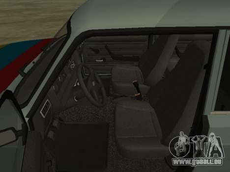 2107 pour GTA San Andreas vue de dessous