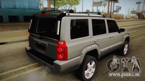 Jeep Commander 2010 für GTA San Andreas linke Ansicht