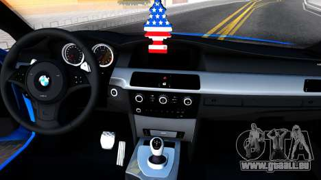 BMW E60 520D M Technique für GTA San Andreas Innenansicht