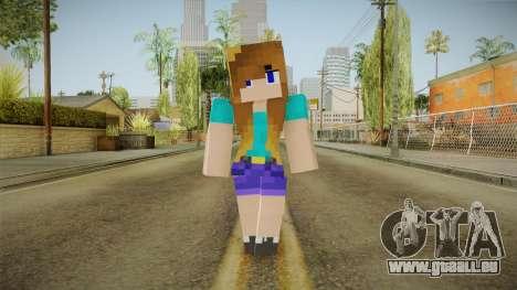 Minecraft - Stephanie pour GTA San Andreas deuxième écran