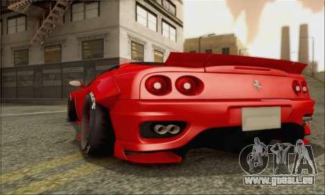 Ferrari 360 LB Work für GTA San Andreas Seitenansicht