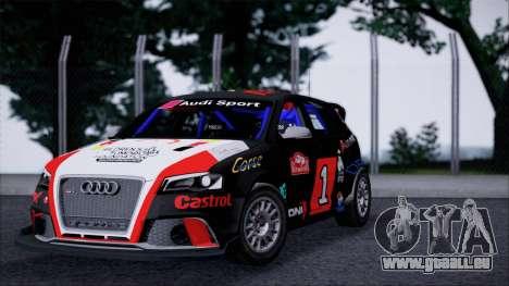 Audi RS3 Sportback Rally WRC pour GTA San Andreas laissé vue