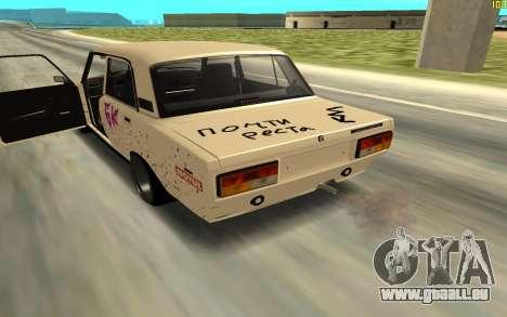 2107 pour GTA San Andreas sur la vue arrière gauche