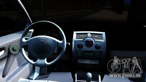 Renault Megane Sedan für GTA San Andreas Innenansicht