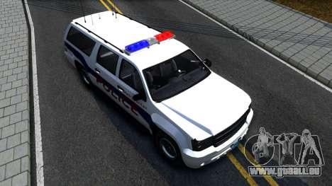 Declasse Granger Metropolitan Police 2012 für GTA San Andreas Rückansicht