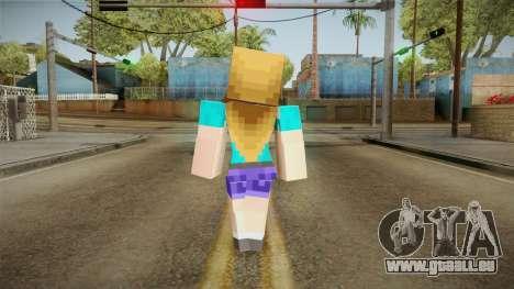 Minecraft - Stephanie pour GTA San Andreas troisième écran