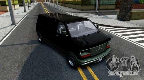 GTA V Declasse Burrito pour GTA San Andreas vue arrière