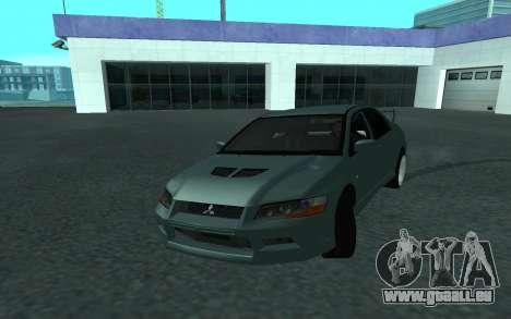 Mitsubishi Lancer Evolution VII pour GTA San Andreas vue de côté