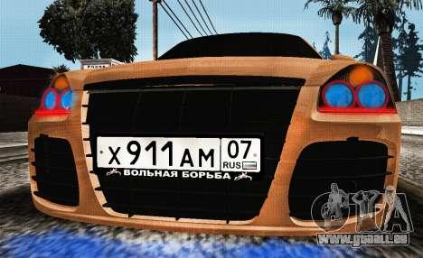 Lada Priora Tuning für GTA San Andreas zurück linke Ansicht
