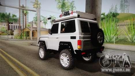 Toyota Land Cruiser Machito 2013 Sound Y pour GTA San Andreas laissé vue