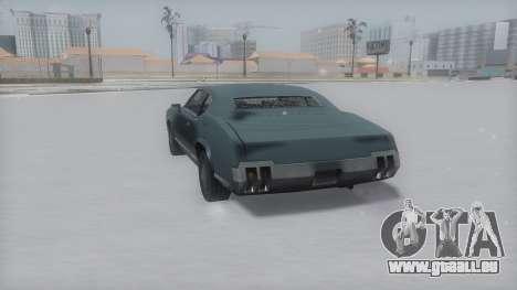 Sabre Winter IVF pour GTA San Andreas sur la vue arrière gauche