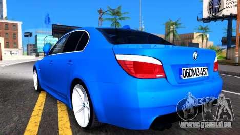 BMW E60 520D M Technique für GTA San Andreas rechten Ansicht