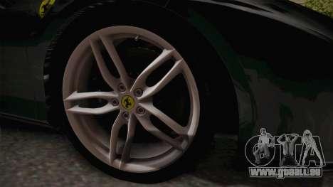 Ferrari 488 GTB pour GTA San Andreas vue arrière