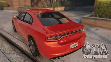 GTA 5 Dodge Charger Hellcat arrière vue latérale gauche