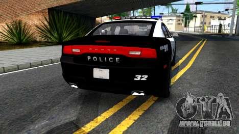 Dodge Charger Rittman Ohio Police 2013 für GTA San Andreas zurück linke Ansicht