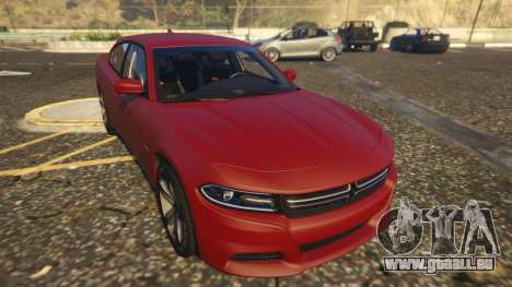 GTA 5 Dodge Charger Hellcat vue arrière