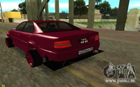 Toyota Chaser Sport pour GTA San Andreas sur la vue arrière gauche