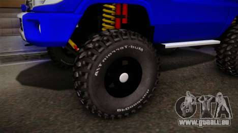 Toyota Macho 2015 Off Road für GTA San Andreas Rückansicht